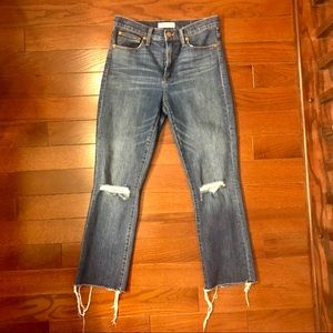 "Madewell 10"" High Riser Demi Boot Jean"